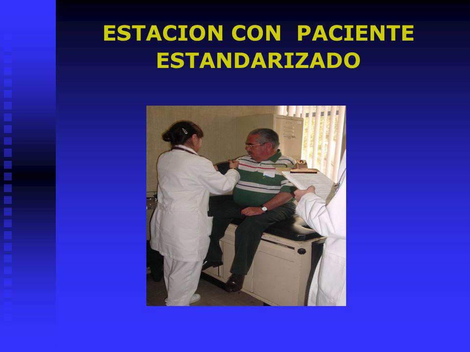 ESTACION CON PACIENTE ESTANDARIZADO