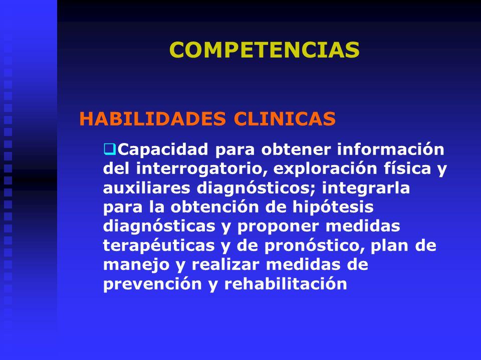 COMPETENCIAS HABILIDADES CLINICAS