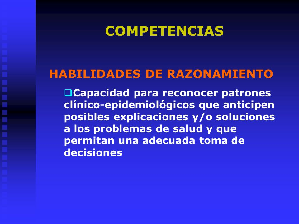 COMPETENCIAS HABILIDADES DE RAZONAMIENTO