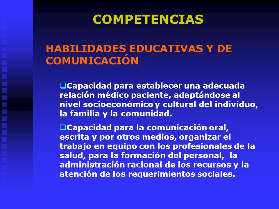COMPETENCIAS HABILIDADES EDUCATIVAS Y DE COMUNICACIÓN