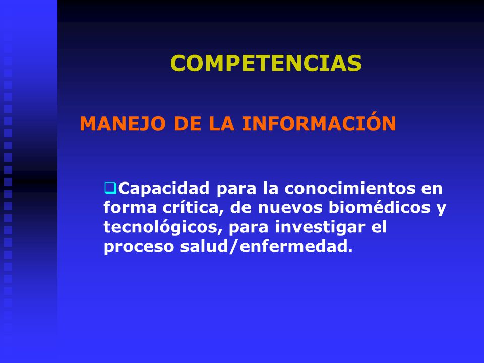 COMPETENCIAS MANEJO DE LA INFORMACIÓN