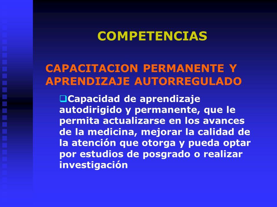 COMPETENCIAS CAPACITACION PERMANENTE Y APRENDIZAJE AUTORREGULADO