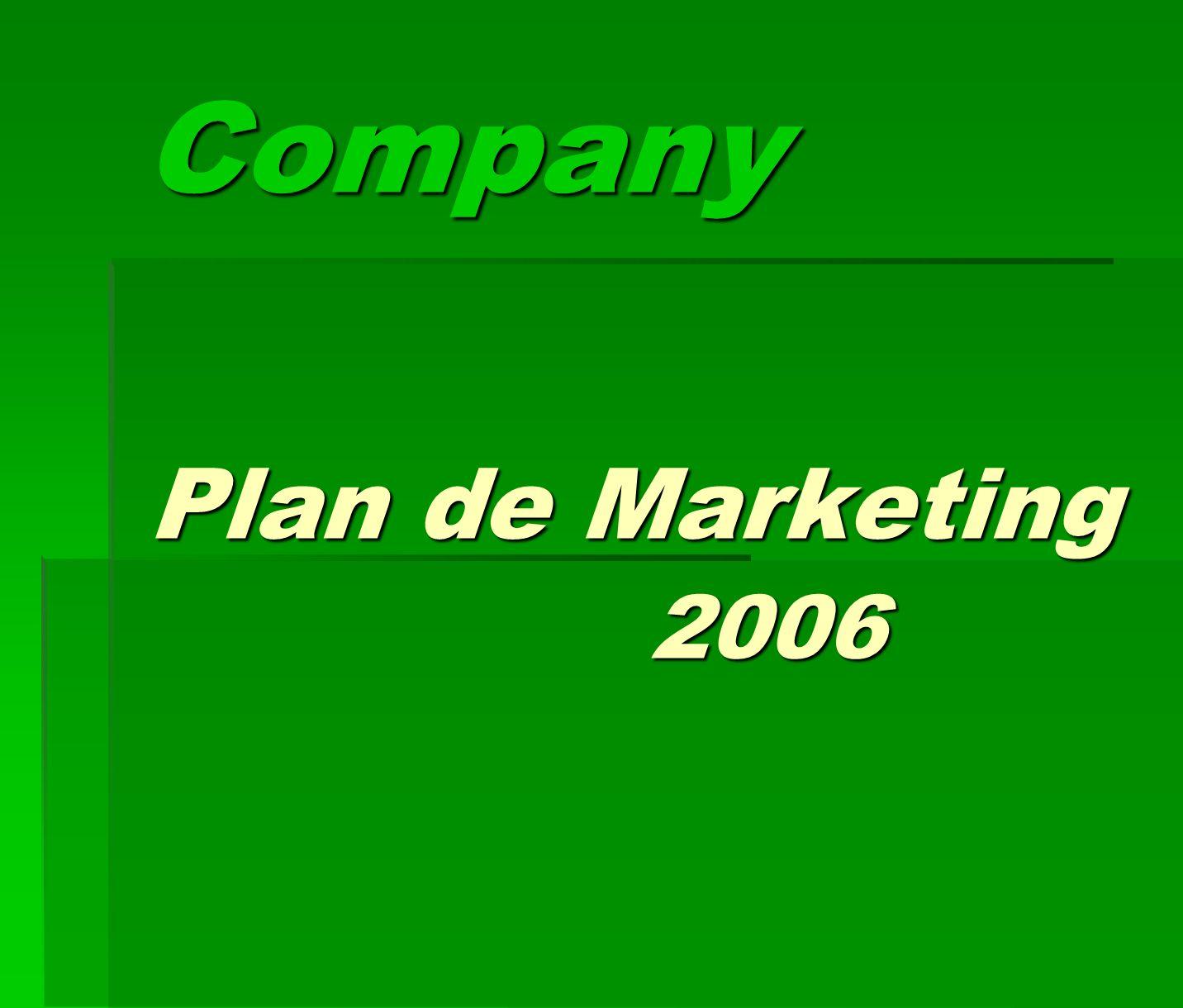Company Plan de Marketing 2006