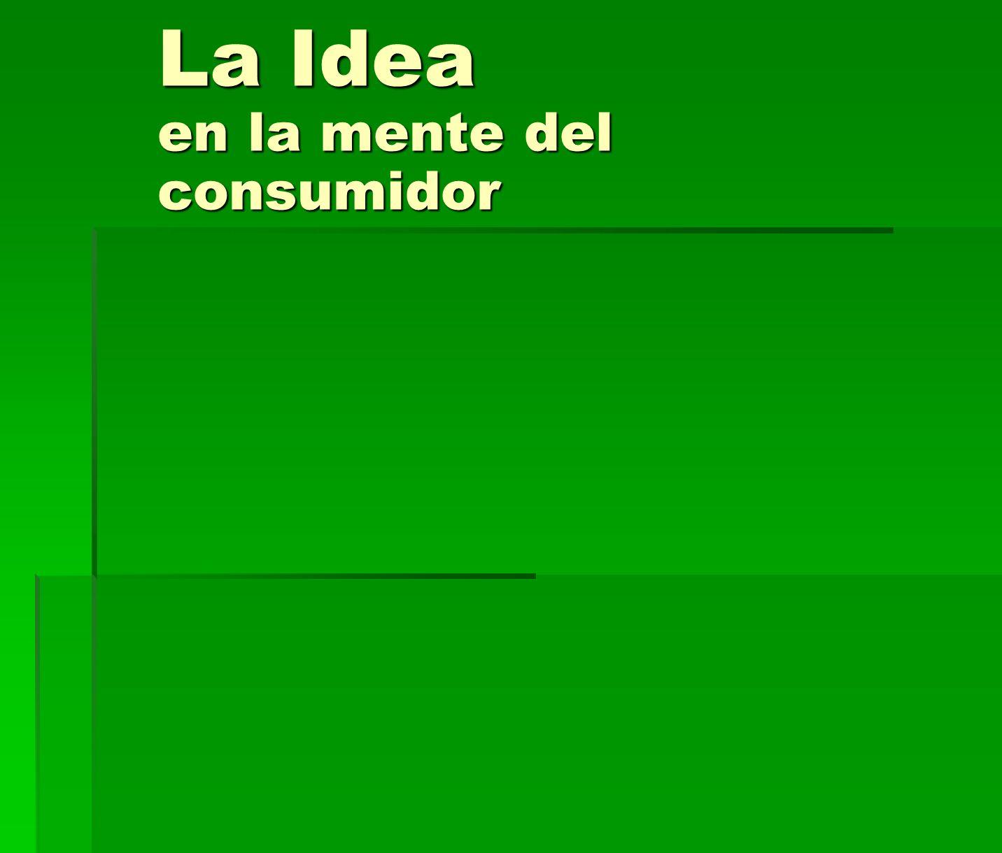 La Idea en la mente del consumidor