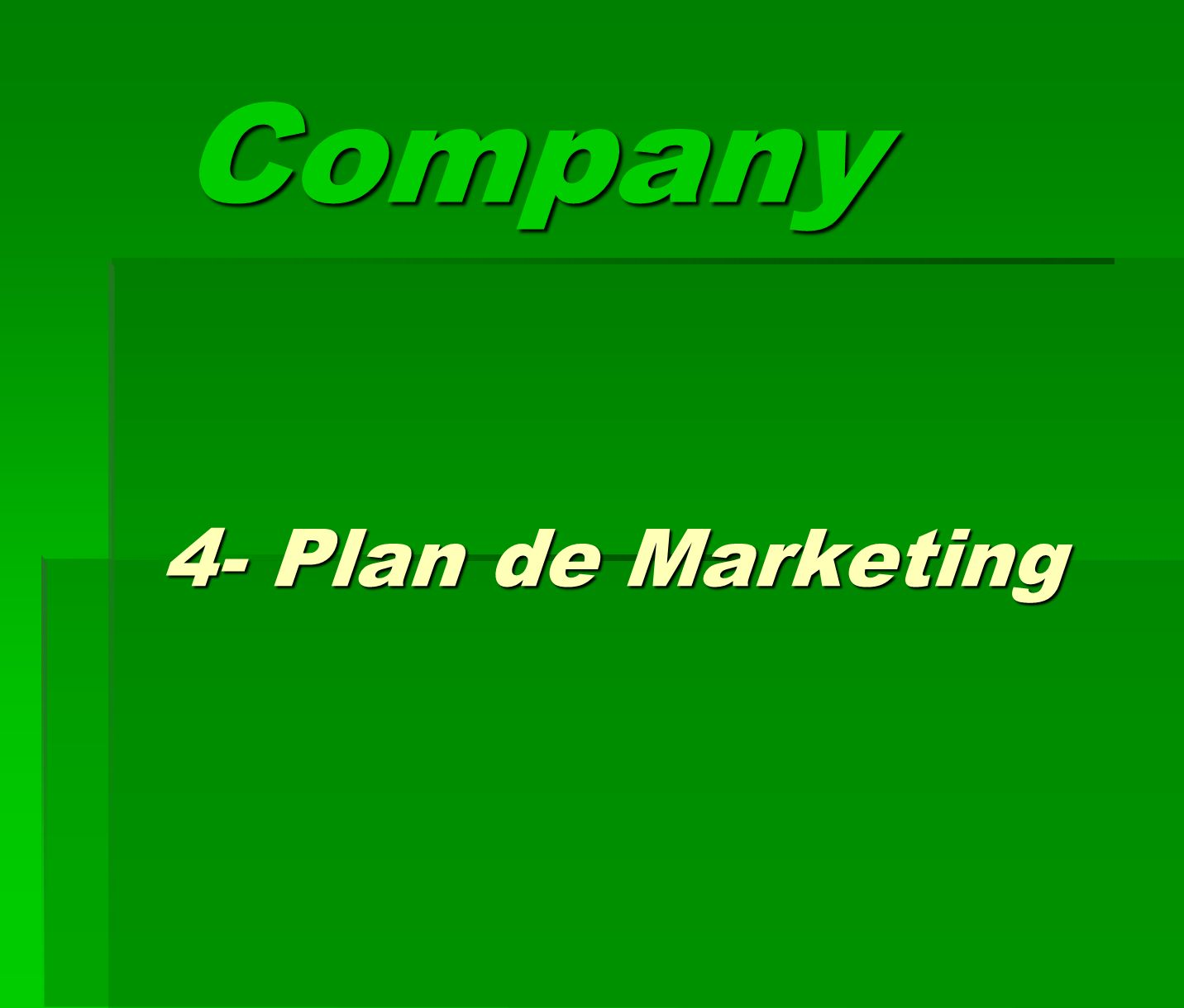Company 4- Plan de Marketing