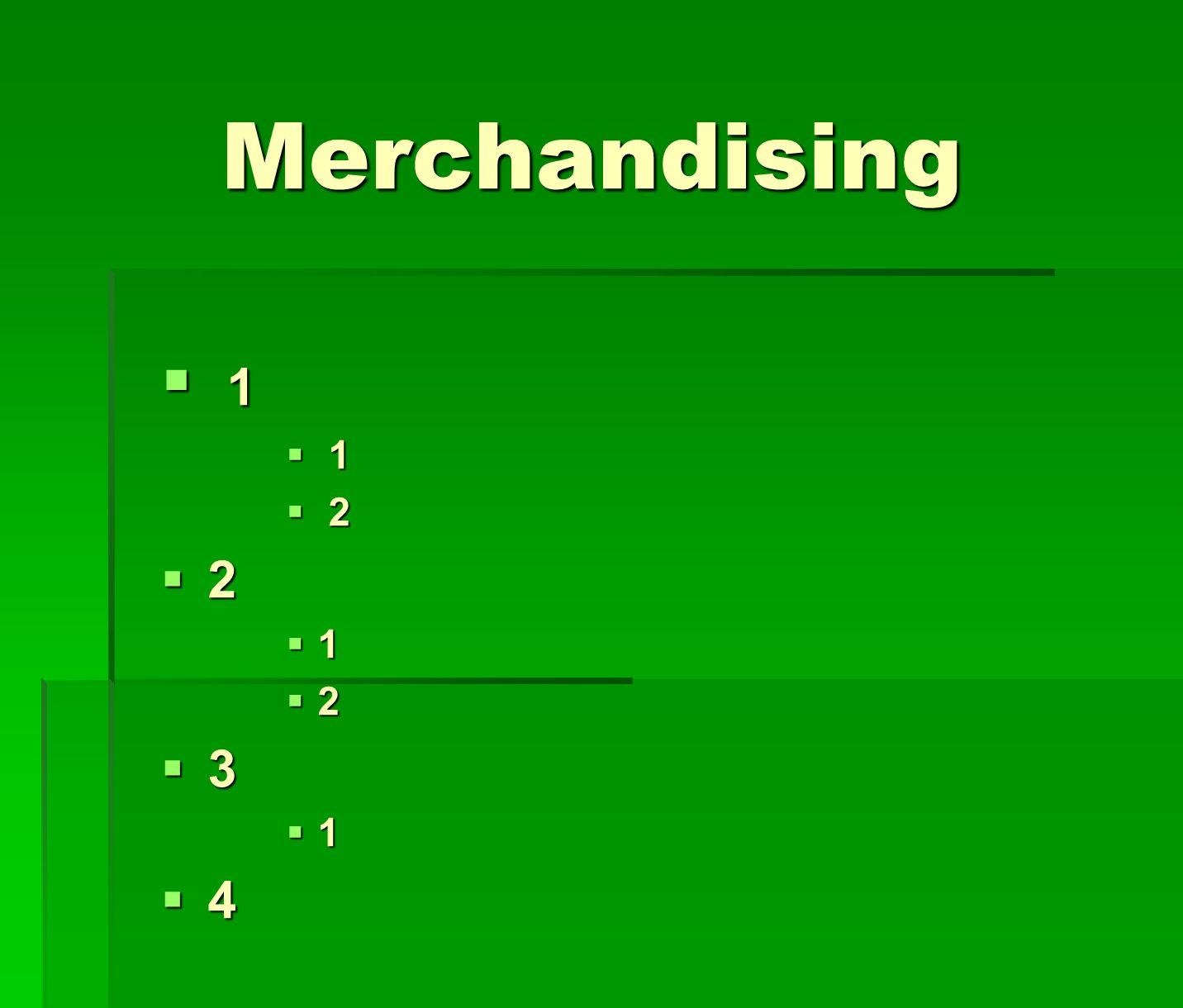 Merchandising 1 2 3 4 LÍNEAS Y POLÍTICAS DE MERCHANDISING (SI PROCEDE)
