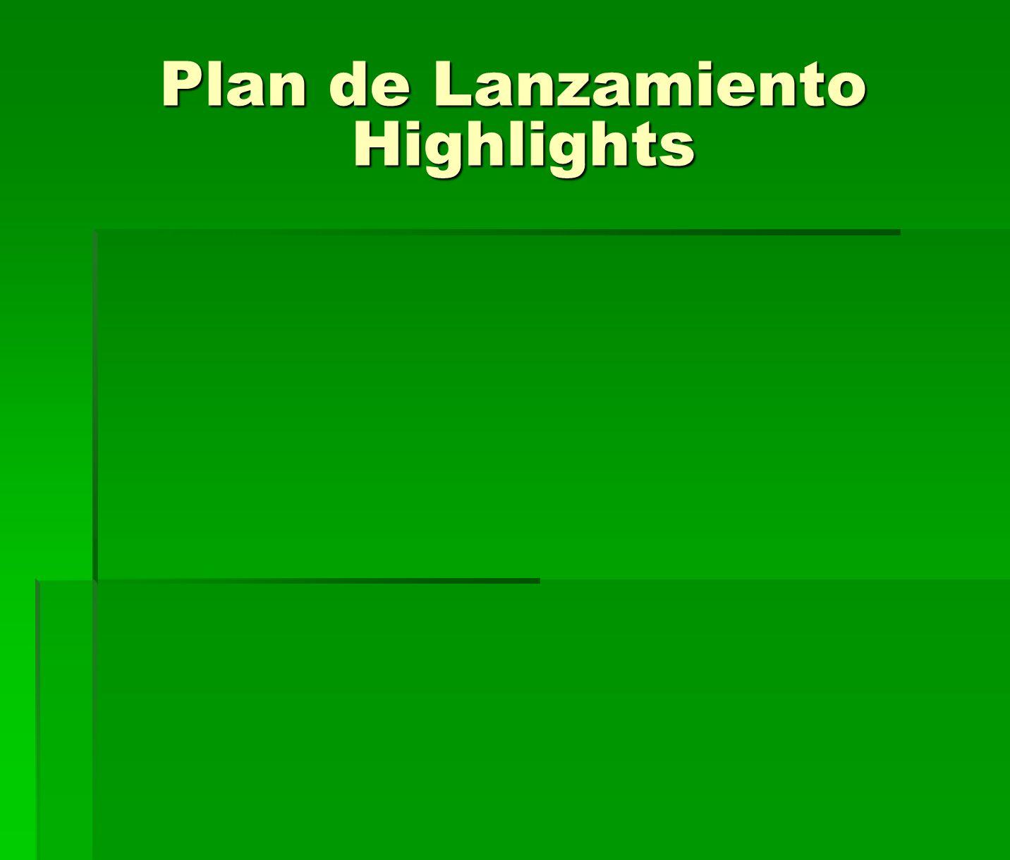 Plan de Lanzamiento Highlights