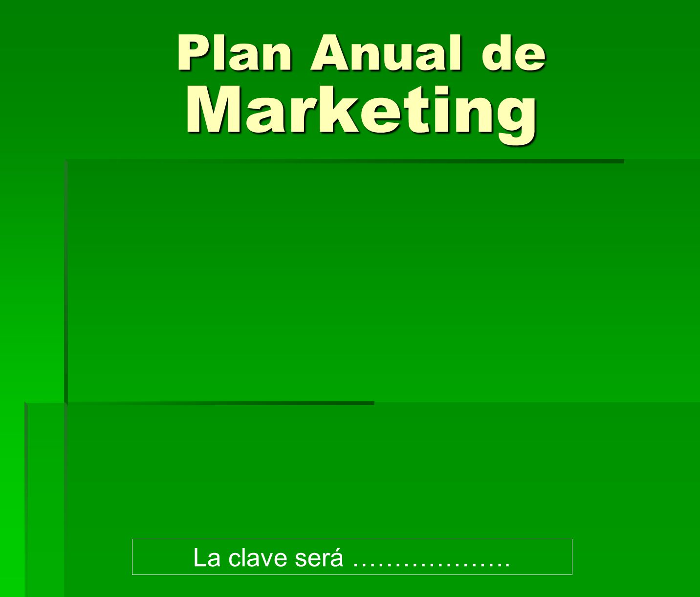 Plan Anual de Marketing