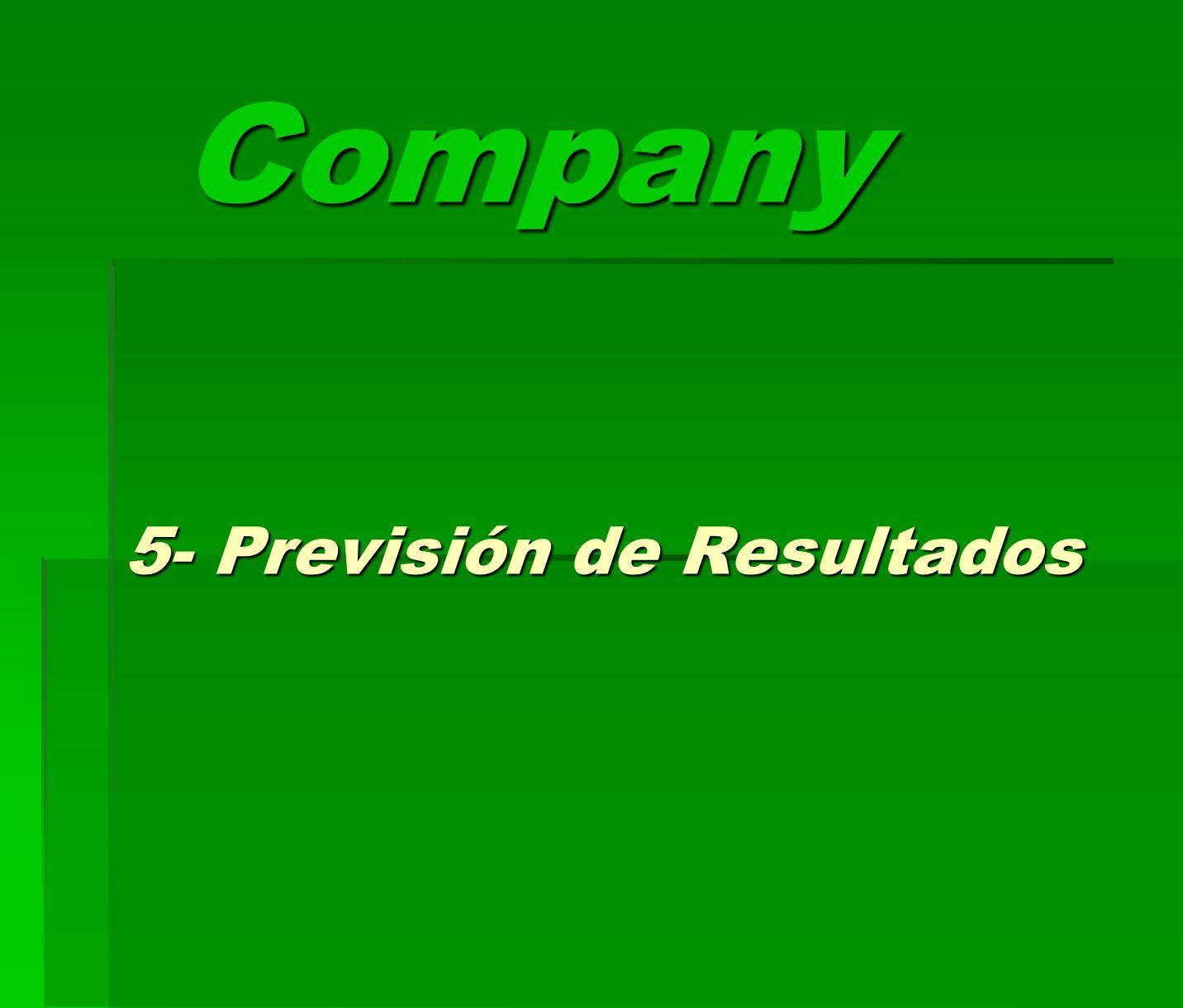 5- Previsión de Resultados