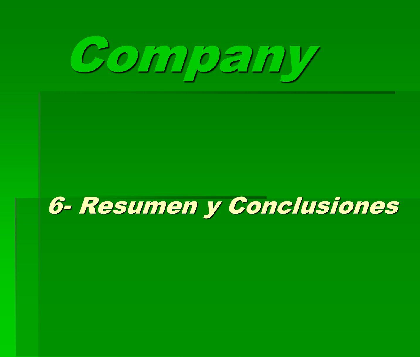 6- Resumen y Conclusiones