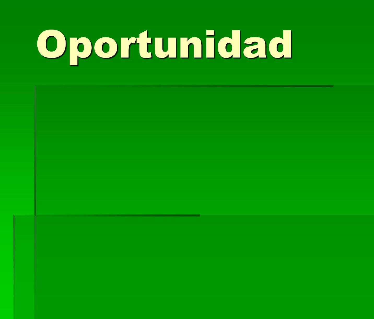 Oportunidad Puntos CONTUNDENTES de oportunidad ESTE AÑO