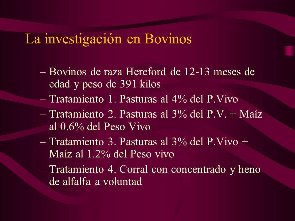 La investigación en Bovinos