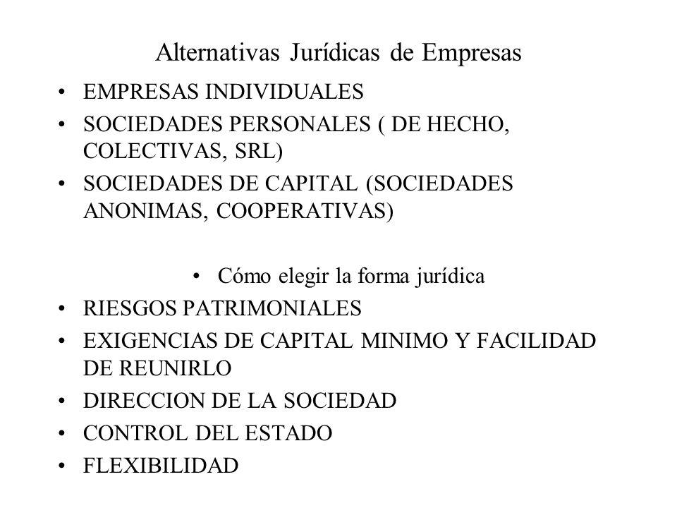 Alternativas Jurídicas de Empresas