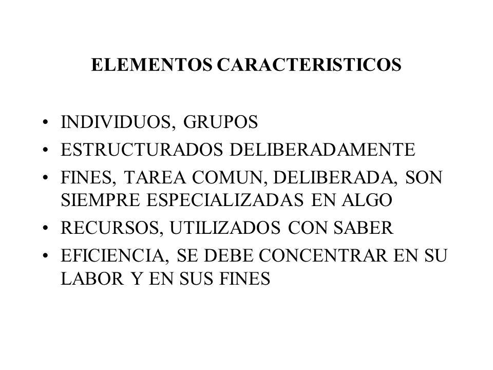 ELEMENTOS CARACTERISTICOS