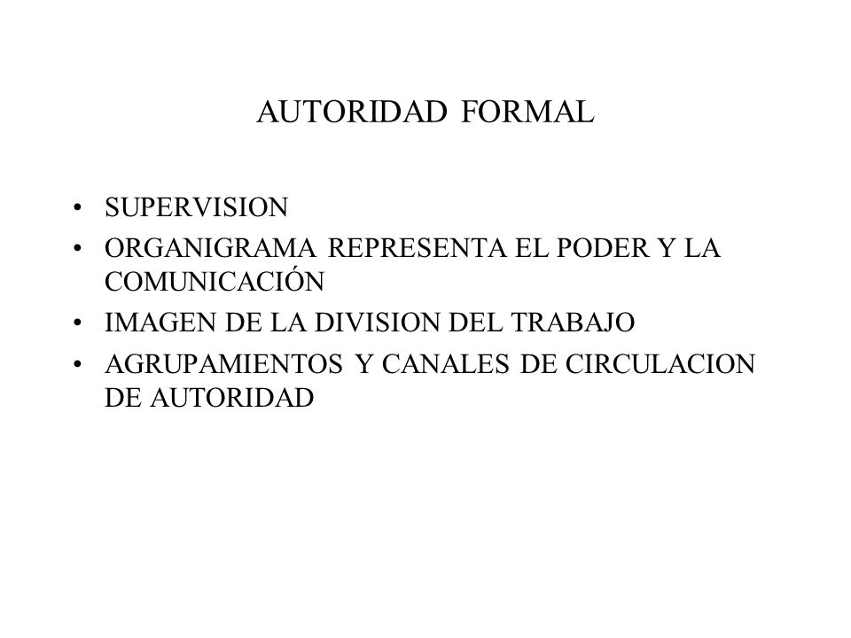 AUTORIDAD FORMAL SUPERVISION