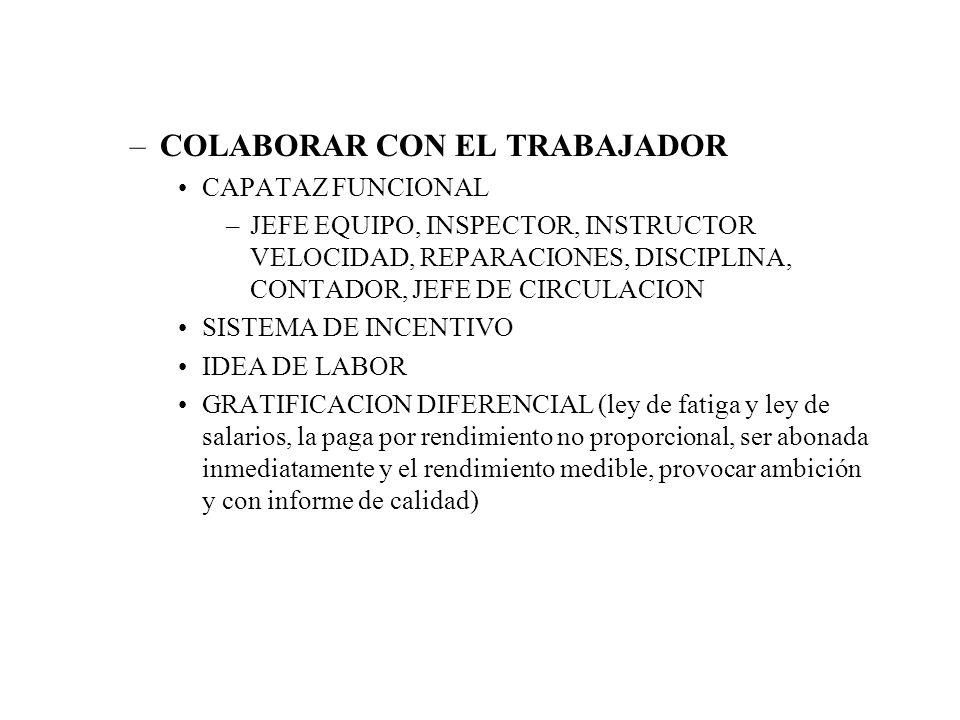 COLABORAR CON EL TRABAJADOR