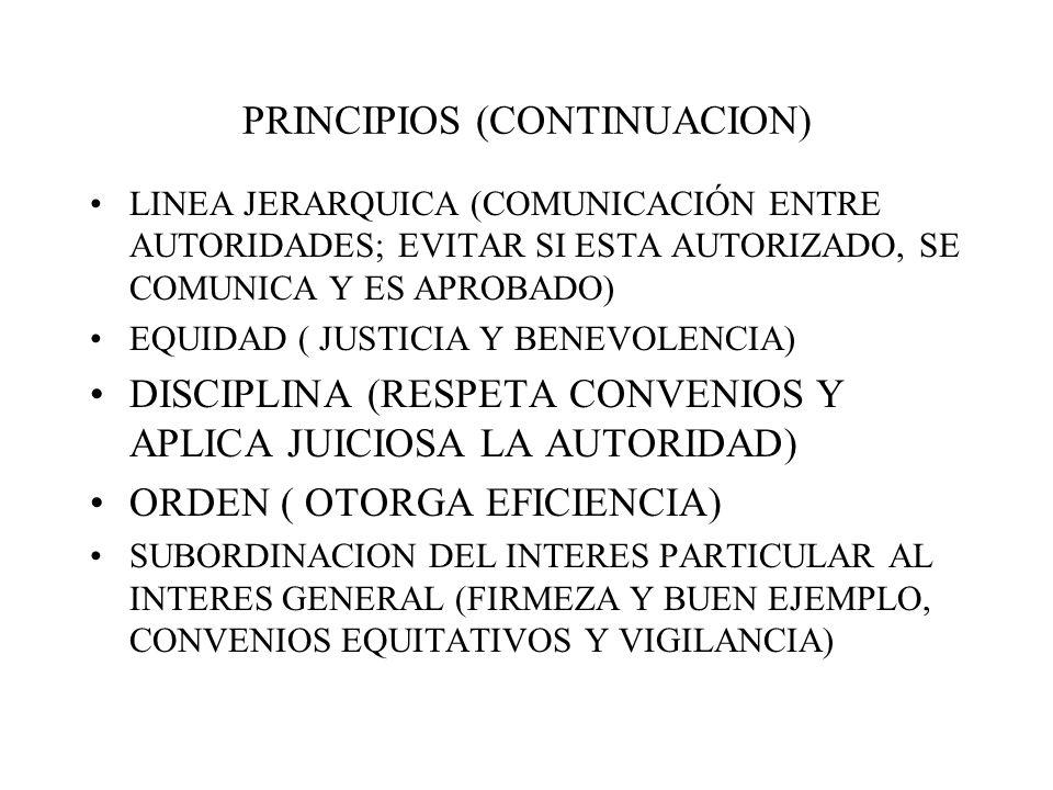 PRINCIPIOS (CONTINUACION)