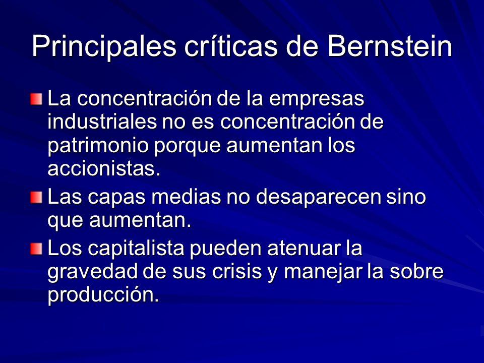 Principales críticas de Bernstein