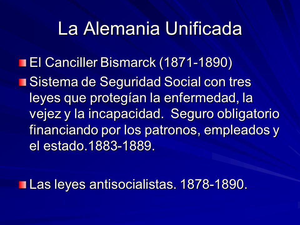 La Alemania Unificada El Canciller Bismarck (1871-1890)