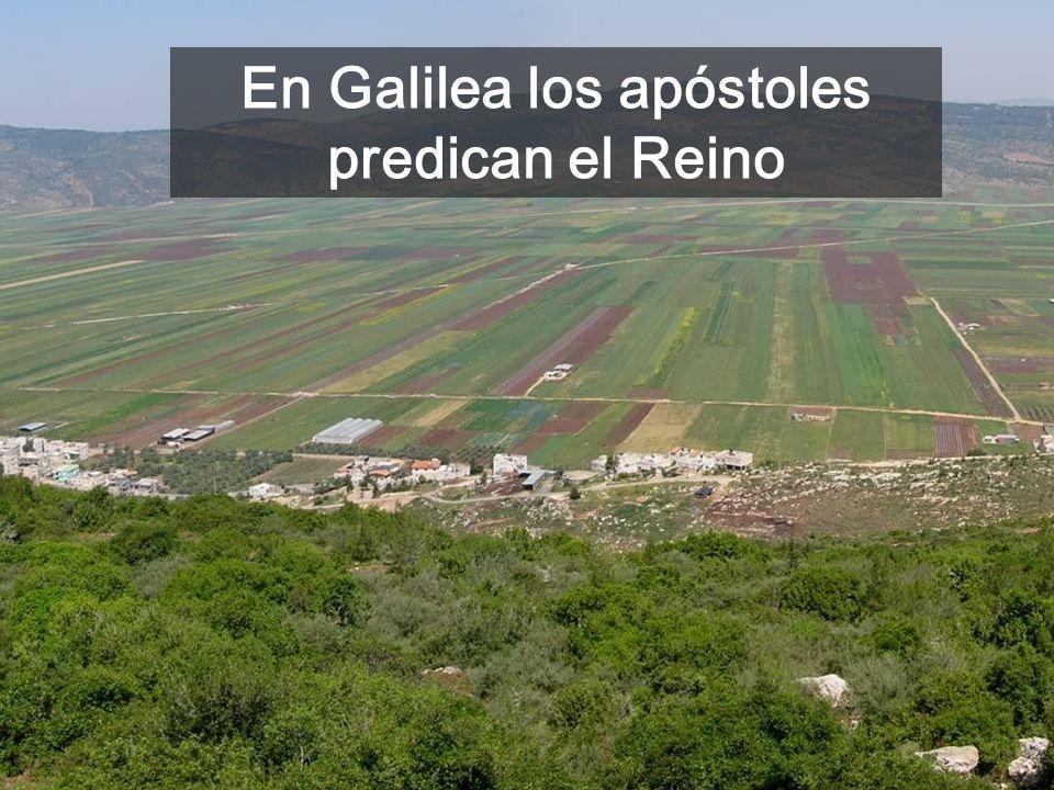En Galilea los apóstoles predican el Reino
