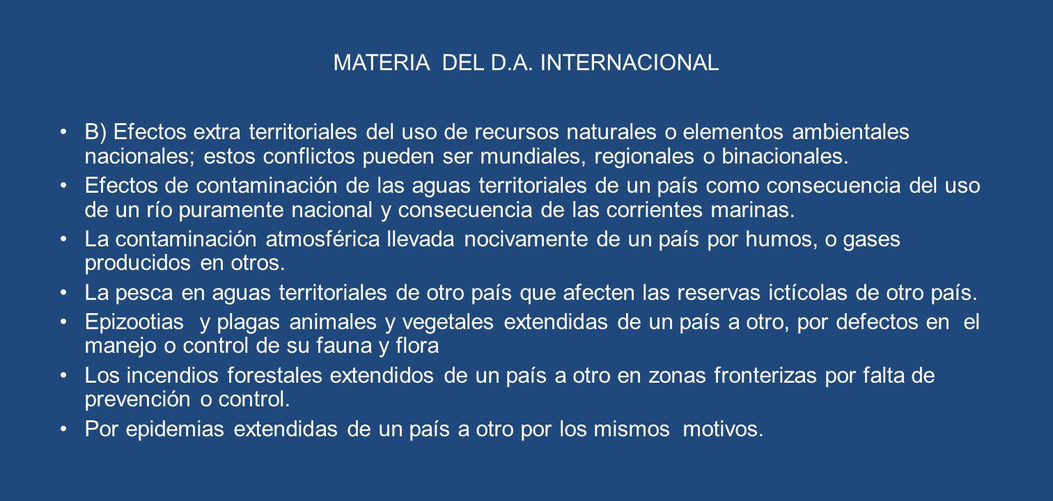 MATERIA DEL D.A. INTERNACIONAL