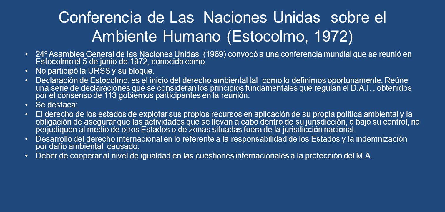 Conferencia de Las Naciones Unidas sobre el Ambiente Humano (Estocolmo, 1972)