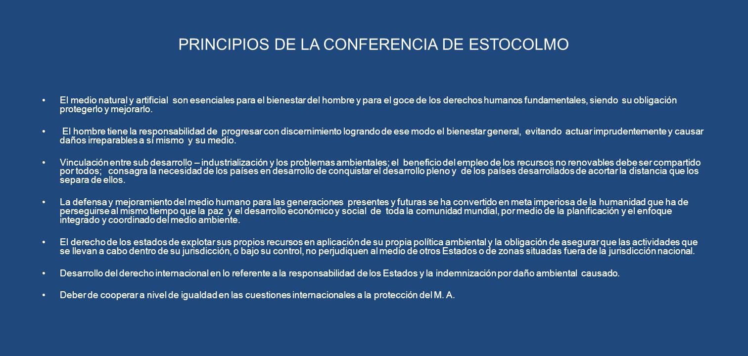 PRINCIPIOS DE LA CONFERENCIA DE ESTOCOLMO