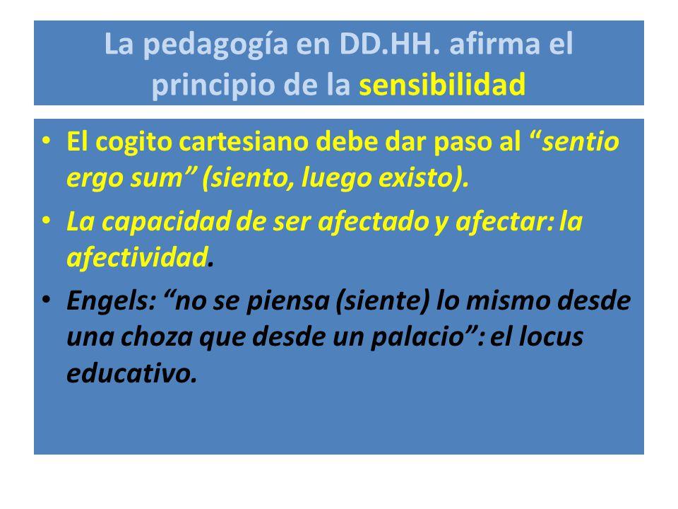 La pedagogía en DD.HH. afirma el principio de la sensibilidad