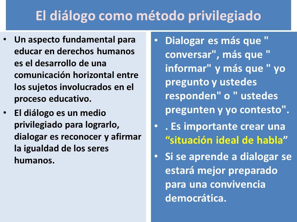 El diálogo como método privilegiado