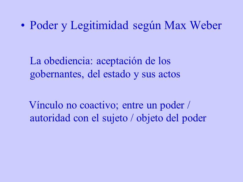 Poder y Legitimidad según Max Weber