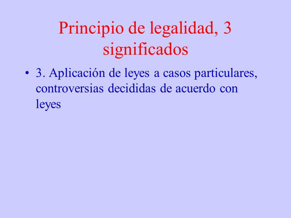 Principio de legalidad, 3 significados