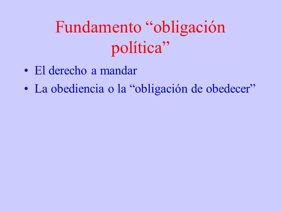 Fundamento obligación política