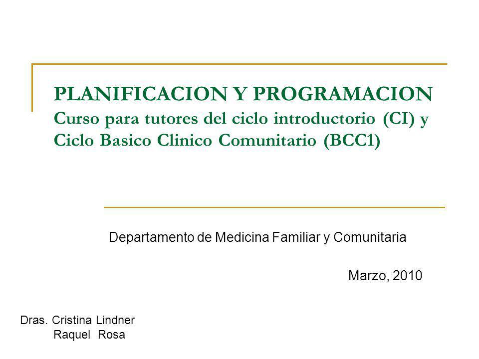 Departamento de Medicina Familiar y Comunitaria Marzo, 2010