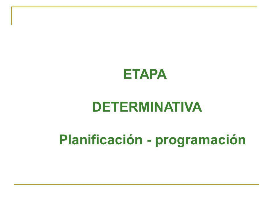 Planificación - programación
