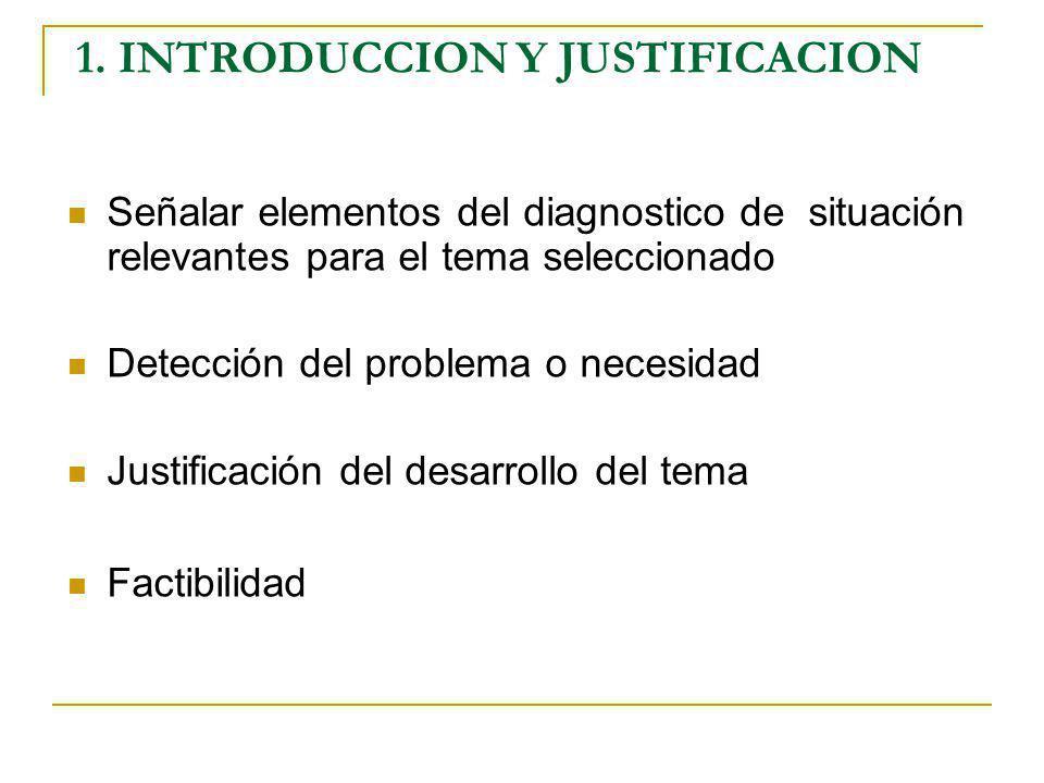 1. INTRODUCCION Y JUSTIFICACION