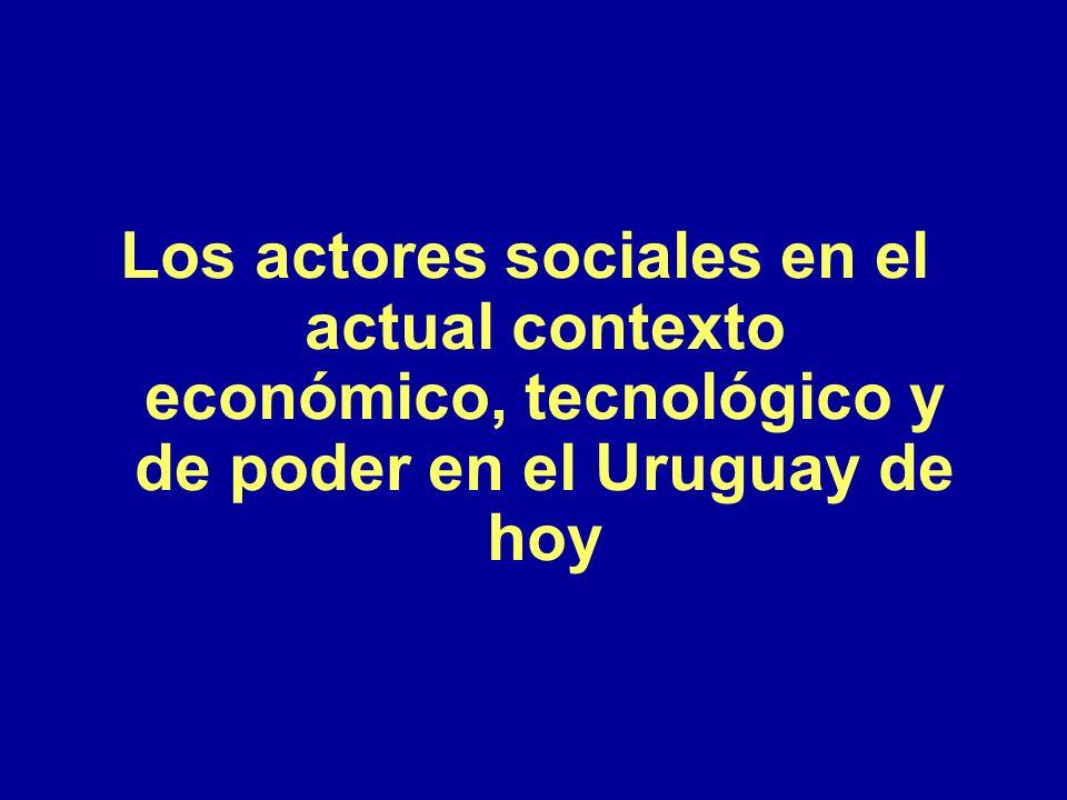 Los actores sociales en el actual contexto económico, tecnológico y de poder en el Uruguay de hoy