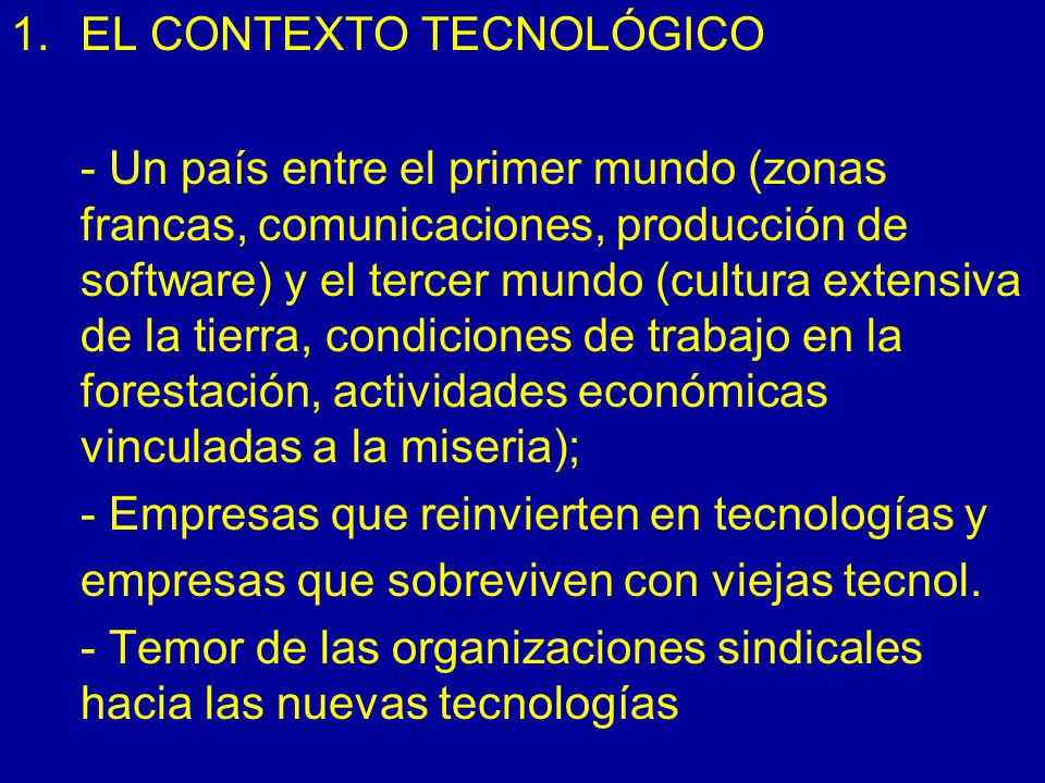 EL CONTEXTO TECNOLÓGICO