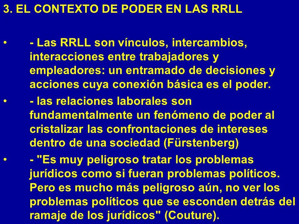 3. EL CONTEXTO DE PODER EN LAS RRLL