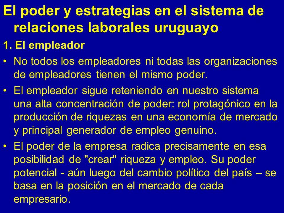 El poder y estrategias en el sistema de relaciones laborales uruguayo