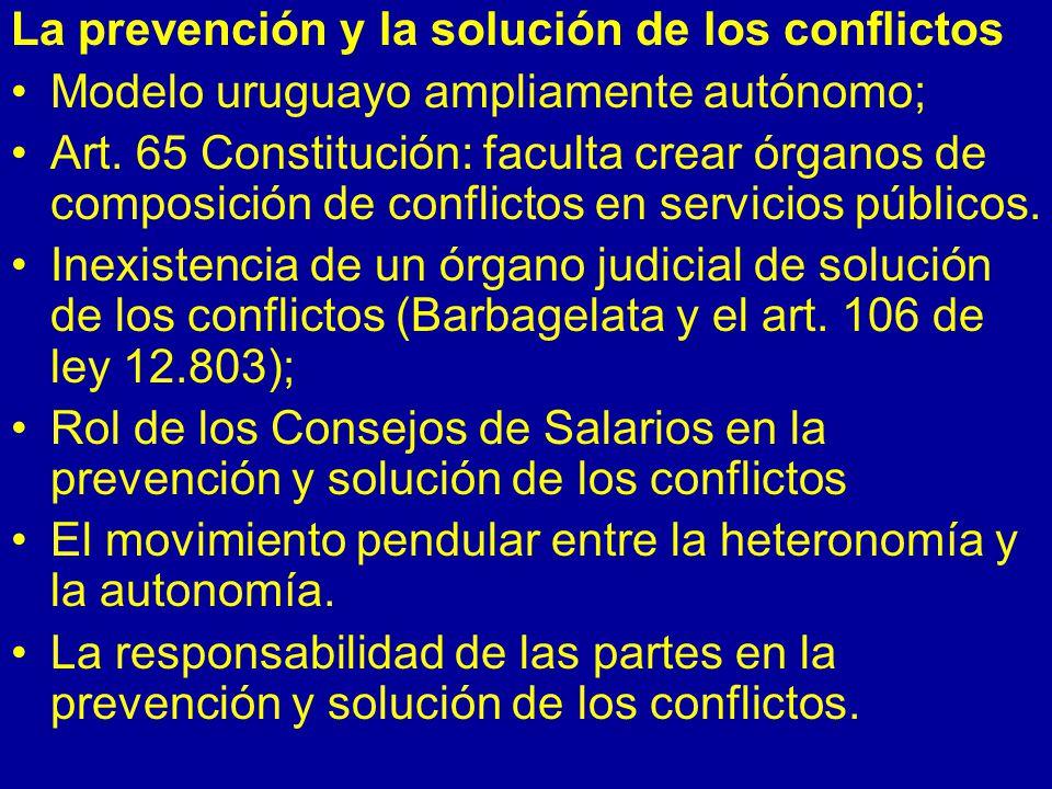 La prevención y la solución de los conflictos