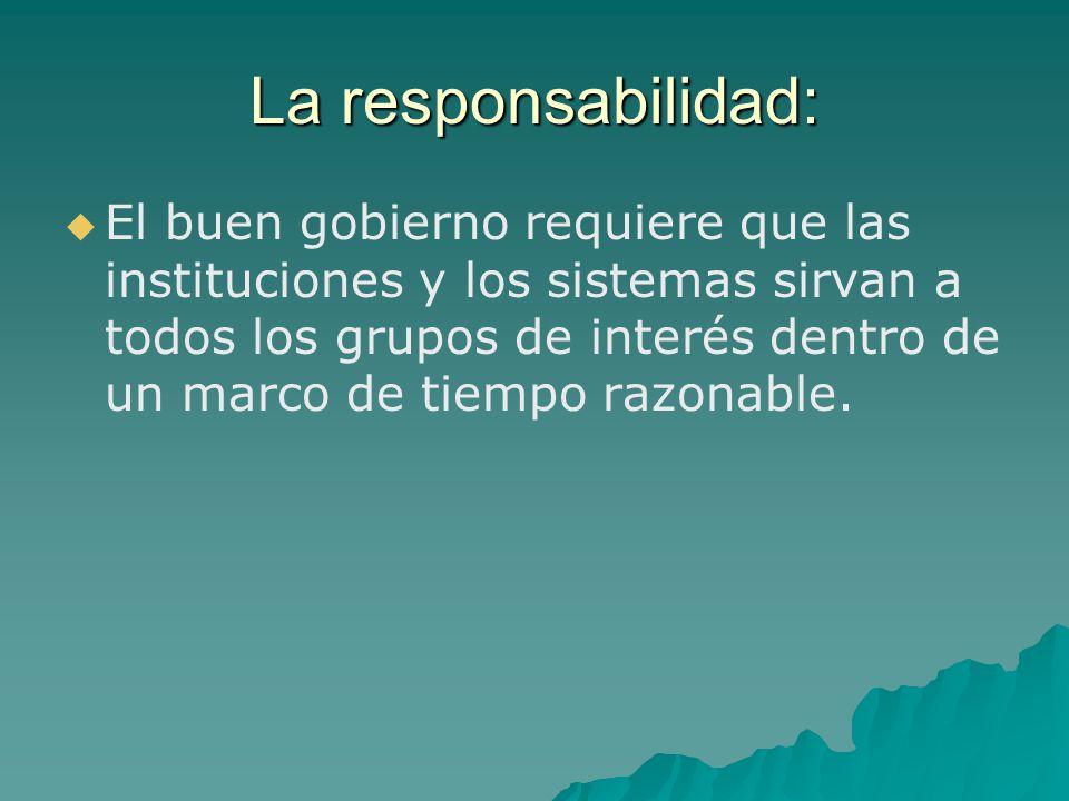 La responsabilidad: