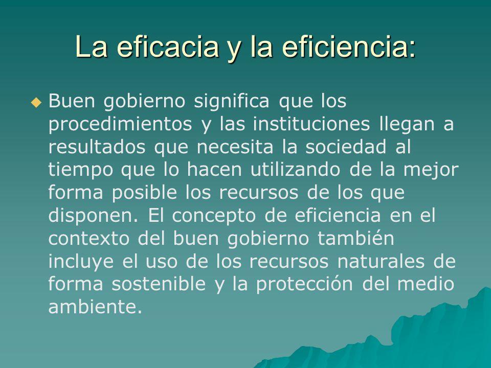 La eficacia y la eficiencia: