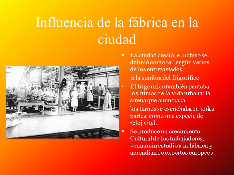 Influencia de la fábrica en la ciudad
