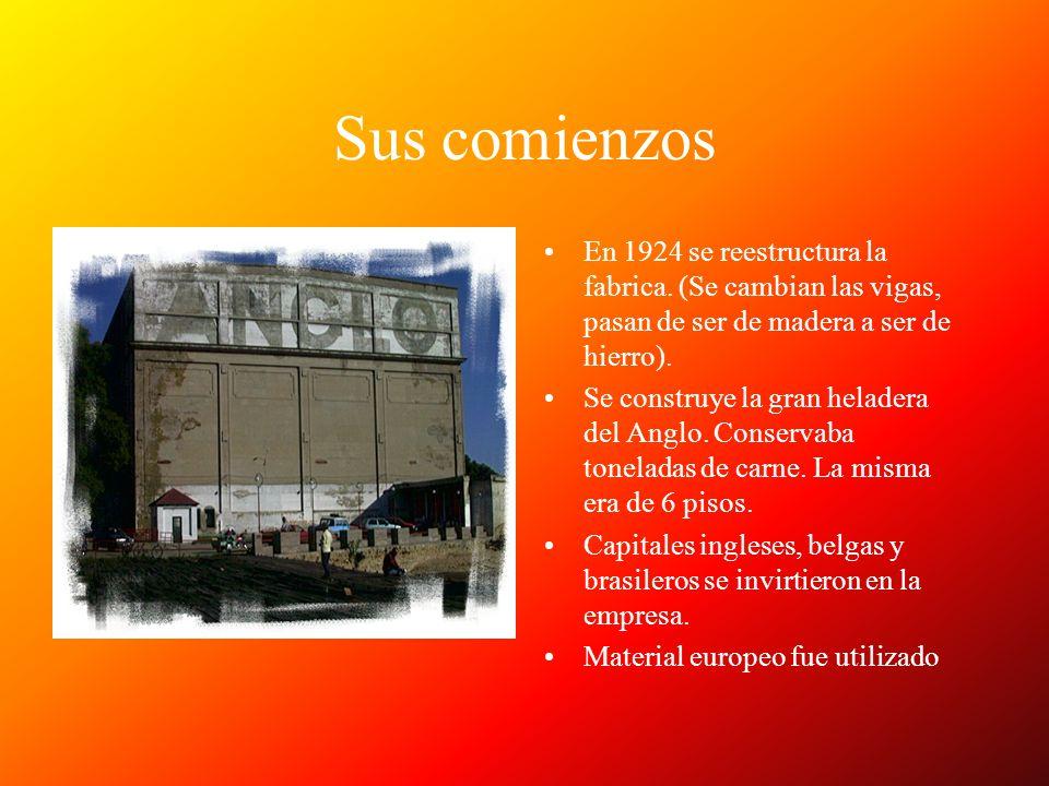 Sus comienzos En 1924 se reestructura la fabrica. (Se cambian las vigas, pasan de ser de madera a ser de hierro).