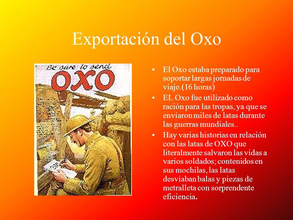Exportación del Oxo El Oxo estaba preparado para soportar largas jornadas de viaje.(16 horas)