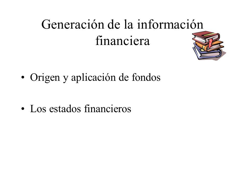 Generación de la información financiera