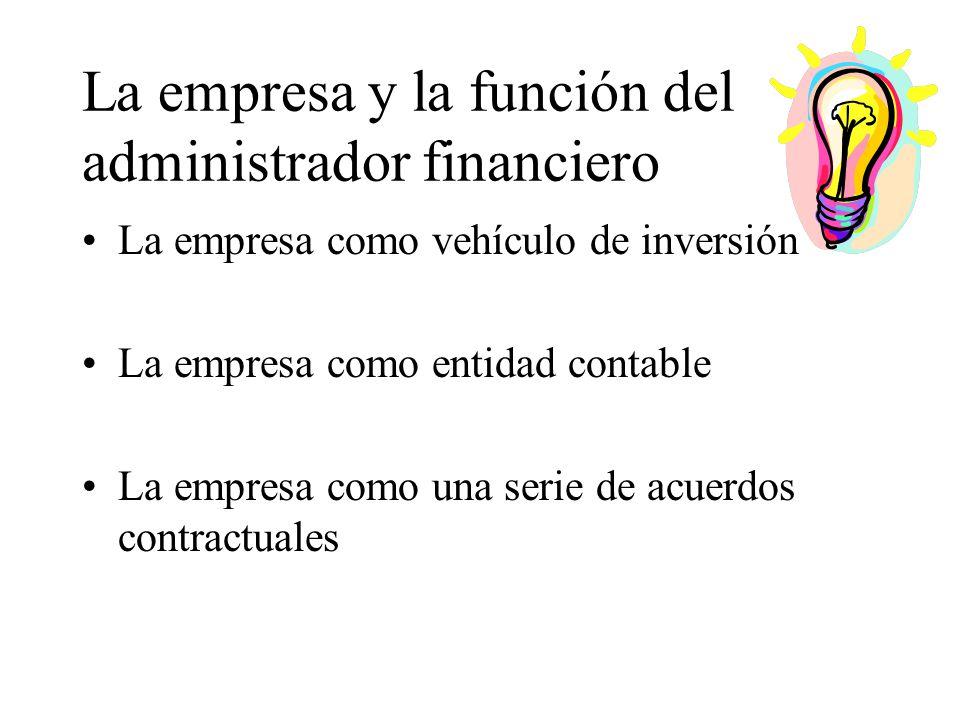 La empresa y la función del administrador financiero