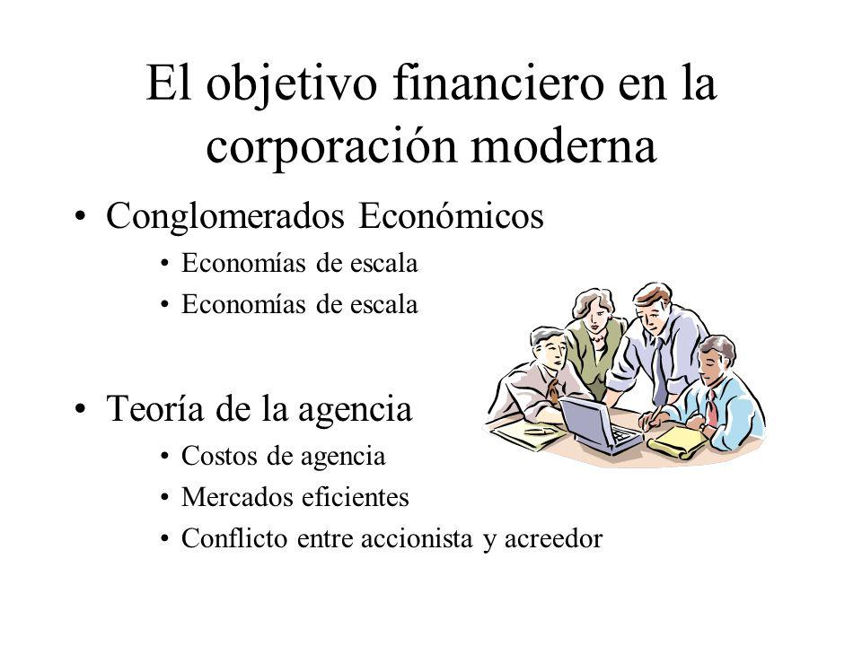 El objetivo financiero en la corporación moderna