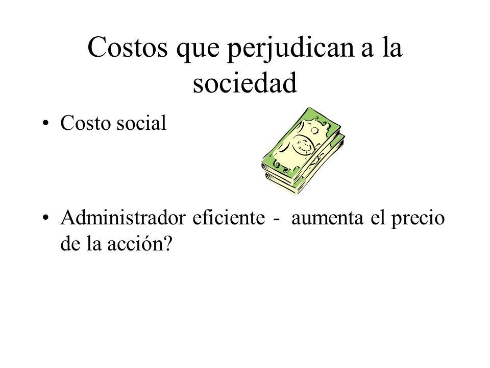 Costos que perjudican a la sociedad