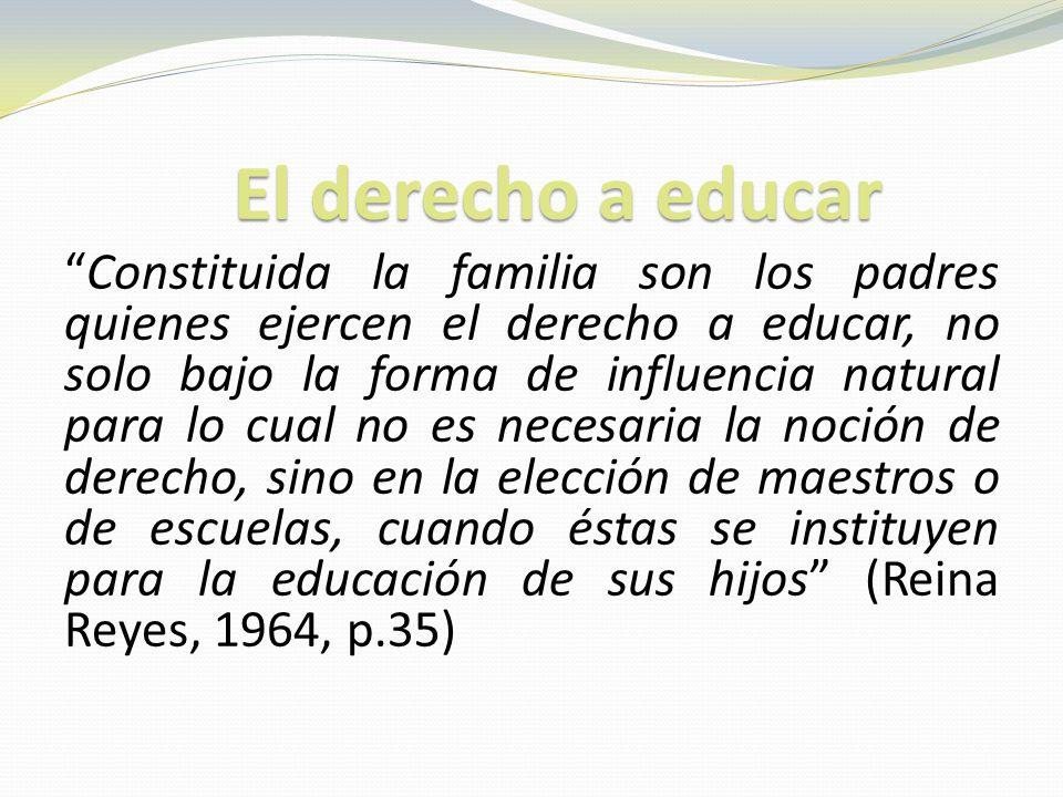 El derecho a educar